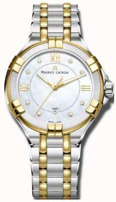 Maurice Lacroix Женщины aikon кварц двухцветный браслет AI1004-PVY13-171-1