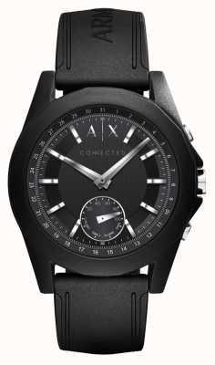 Armani Exchange Черный силиконовый ремешок AXT1001