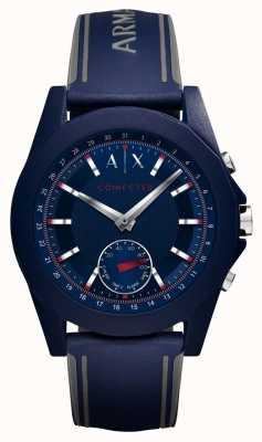 Armani Exchange Синий силиконовый ремешок AXT1002
