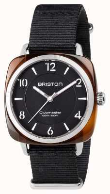 Briston Unisex clubmaster шикарная черная ацетатная сталь с ремешком для nato 17536.SA.T.1.NB