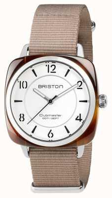 Briston Unisex clubmaster шикарная бежевая ацетатная сталь с ремешком для nato 17536.SA.T.2.NT