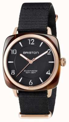 Briston Unisex clubmaster chic black ацетат pvd розовое золото 17536.PRA.T.1.NB