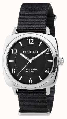Briston Unisex clubmaster шикарная черная сталь с ремешком для nato 17536.S.L.1.NB