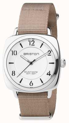 Briston Unisex clubmaster шикарная бежевая сталь с ремешком для nato 17536.S.L.2.NT