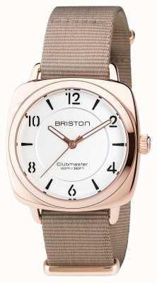 Briston Clubmaster шикарная сталь - hms золотой белый циферблат 17536.SPRG.L.2.NT