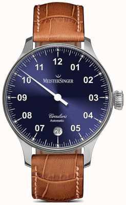MeisterSinger Mens roundis автоматический солнечный синий CC908