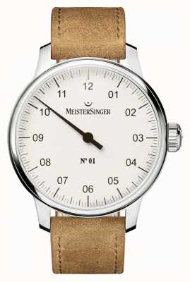 MeisterSinger Мужчины нет. 1 классическая ручная рана sellita white AM3301