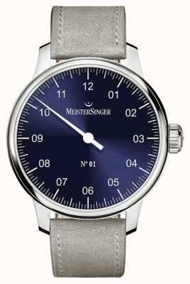 MeisterSinger Мужская классика №. 1 ручная рана sellita sunburst blue AM3308