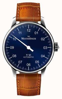 MeisterSinger Мужская классика №. 3 автоматический солнечный синий AM908
