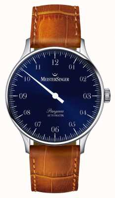 MeisterSinger Мужская классическая пангея автоматическая sunburst blue PM908