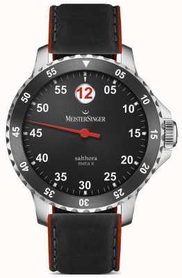 MeisterSinger Мужская классика плюс сальтора мета x автоматический черный красный SAMX902