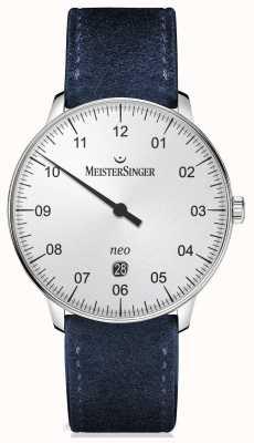 MeisterSinger Мужская форма и стиль автоматического серебра NE401