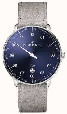 MeisterSinger Мужская форма и стиль neo plus автоматический солнечный синий NE408