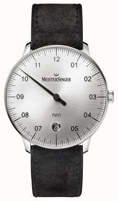 MeisterSinger Мужская форма и стиль neo automatic sunburst silver NE901N