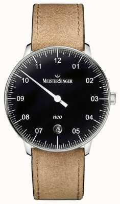MeisterSinger Мужская форма и стиль neo automatic black NE902N