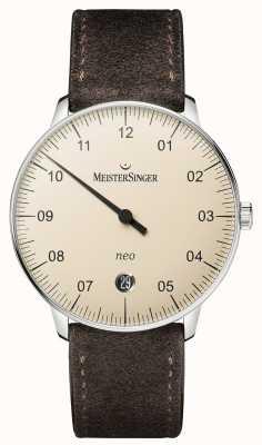 MeisterSinger Мужская форма и стиль нео-автоматической слоновой кости NE903N