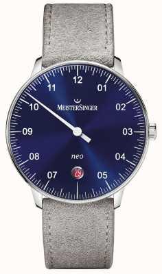 MeisterSinger Мужская форма и стиль neo automatic sunburst blue NE908N