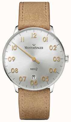 MeisterSinger Мужская форма и стиль neo q quarz sunburst silver NQ901GN