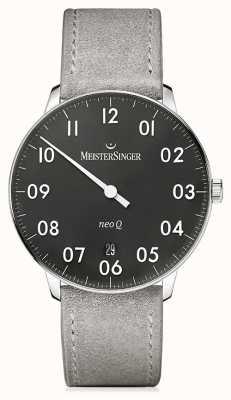 MeisterSinger Мужская форма и стиль neo q quarz black NQ902N