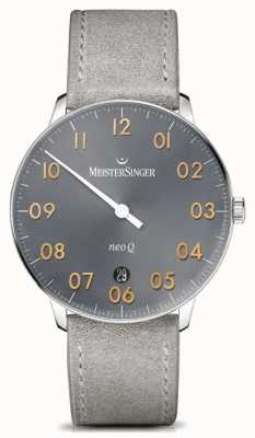 MeisterSinger Мужская форма и стиль neo q quartz sunburst medium grey NQ907GN