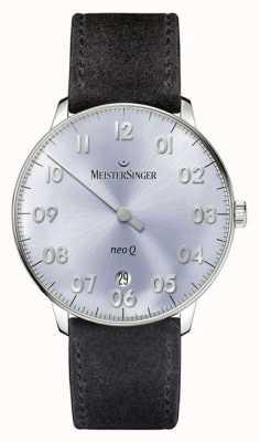 MeisterSinger Мужская форма и стиль neo q quarz sunburst sky blue NQ908N