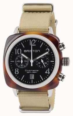 Briston Clubmaster classic ацетат - хронограф панцирь черепахи blac 13140.SA.T.1.NK