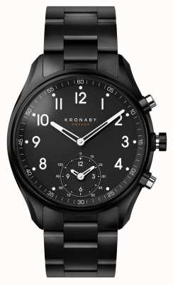 Kronaby 43mm apex bluetooth черный pvd металлический ремень smartwatch A1000-0731
