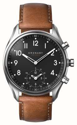 Kronaby 43mm apex bluetooth коричневая кожа smartwatch A1000-0729