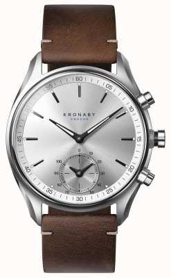 Kronaby 43mm sekel bluetooth темно-коричневая кожа smartwatch A1000-0714