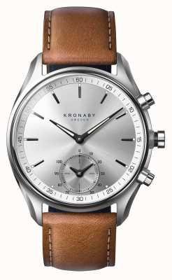 Kronaby 43mm sekel bluetooth загорелая коричневая кожа smartwatch A1000-0713