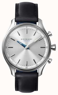 Kronaby 38mm sekel bluetooth черный кожаный ремешок smartwatch A1000-0657