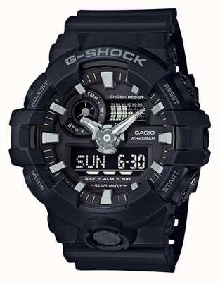 Casio Mens G-Shock черный будильник хронограф GA-700-1BER