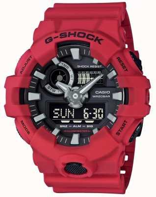 Casio Мужская g-shock красный хронограф GA-700-4AER