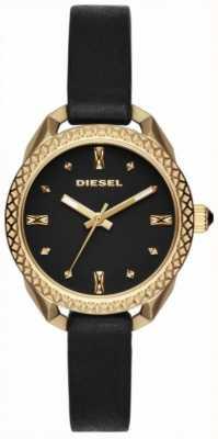 Diesel Женские шаткие черные и золотые часы DZ5547