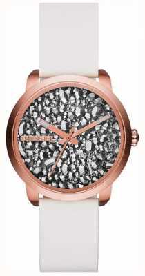 Diesel Женские вспышки серии белые / каменные часы DZ5551