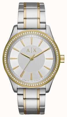 Armani Exchange Женские николетные двухцветные часы AX5446