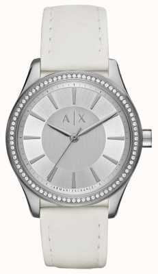 Armani Exchange Женские часы nicolette белого ремешка AX5445