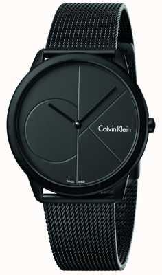 Calvin Klein Мужской минимальный черный браслет из нержавеющей стали K3M514B1