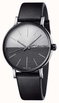 Calvin Klein Мужчины увеличивают черный кожаный двухтональный набор K7Y21CCX