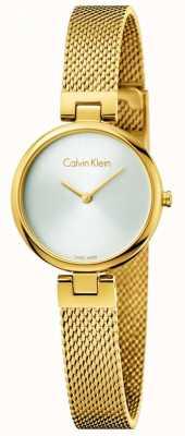 Calvin Klein Женщины подлинный pvd позолоченный стальной сетчатый браслет K8G23526