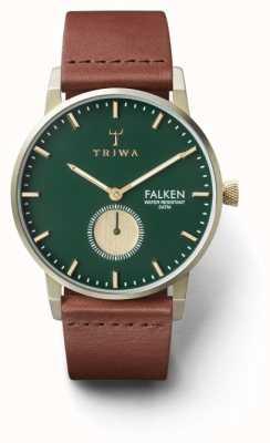 Triwa Мужская сосна falken коричневая кожа зеленый циферблат FAST112-CL010217