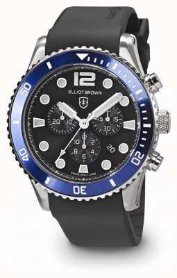 Elliot Brown Мужской bloxworth синий и черный черный резиновый ремешок 929-012-R01