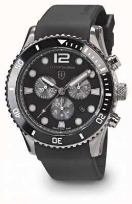 Elliot Brown Черный черный и серый черный ремень для мужчин bloxworth 929-010-R09