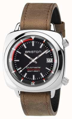 Briston Unisex clubmaster diver матовая стальная кожа авто черный 17642.PS.D.1.LVBR