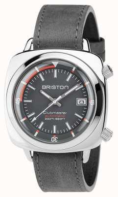 Briston Unisex clubmaster diver матовая стальная кожа авто серый 17642.PS.D.17.LVB