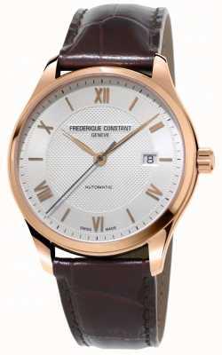 Frederique Constant Мужской классический индекс автоматический коричневый кожаный ремешок FC-303MV5B4
