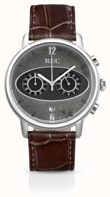 REC Марк 1 м1 хронограф коричневый кожаный ремешок M1