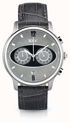 REC Марка 1 м2 хронограф серый кожаный ремешок M2