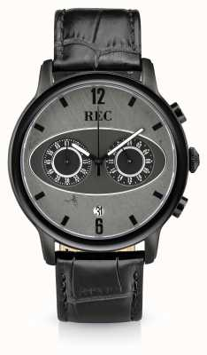 REC Марка 1 м3 хронограф черный кожаный ремешок M3