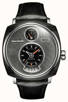 REC P51-01 mustang автоматический черный кожаный ремешок
